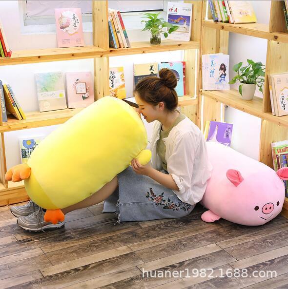 Cartone animato in cotone morbido Morbido maiale giallo pollo Shiba Inu cuscino peluche cuscino cuscino Animale farcito giocattoli regalo di compleanno