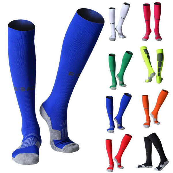 Professional Football Socks Men Anti-Slip Breathable Soccer Socks Running Adults Stockings Sports Ankle Support Protect Calf Socks G494Q