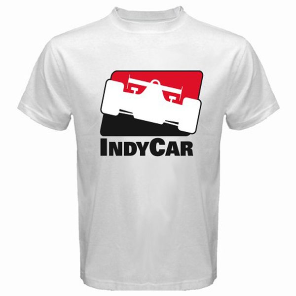 INDYCAR Indy Racing League Logo Indianapolis Men/'s White T-Shirt Size S to 3XL
