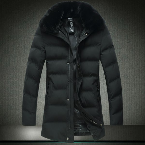 Oversized Men Winter Jacket 8XL 7XL Big Man Green 2018 Winter Parkas Cotton Cotton Wadded Jacket Fur Collar Windbreak Coat A1815