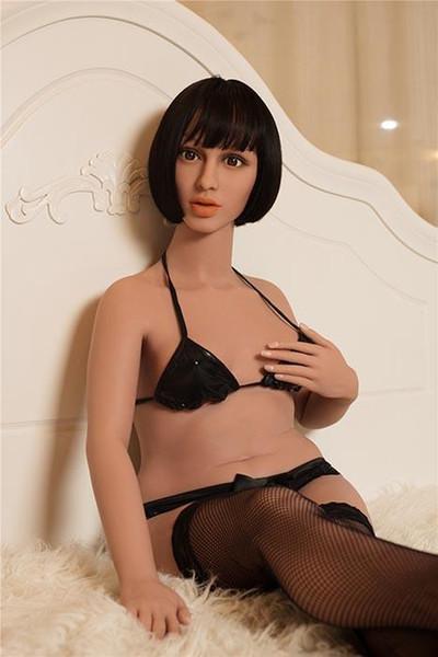 Love Doll Hellen 4ft8 '142cm Tamaño completo de piel de color tostado con 3 canales realistas Juguetes de muñeca de sexo masculino adulto