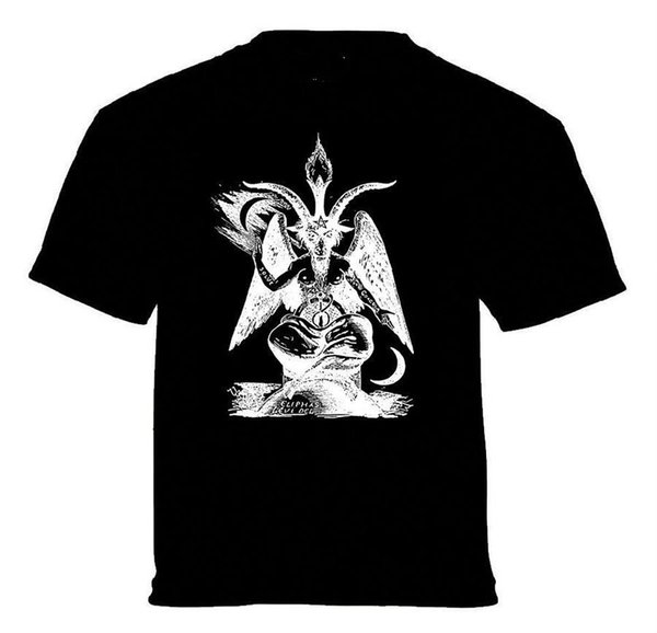 BAPHOMET PENTAGRAM T-SHIRT satan black metal death metal goth gothic satanic Stranger Things Print T-Shirts Original