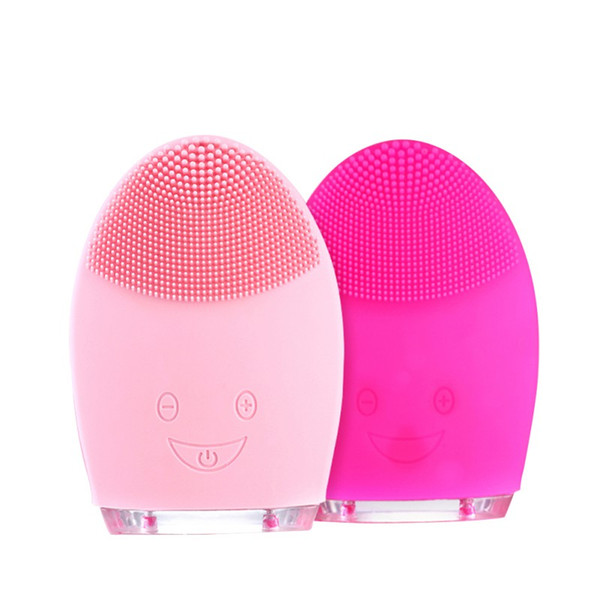 Mini Facial Cleansing Brush Sonic Vibration Face Cleaner Silicone Deep Pore Cleaning Electric waterproof Massage free shipping