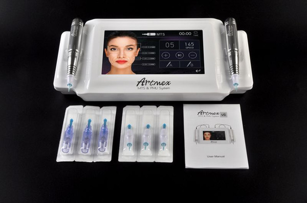2018 Intellegent Artmex V8 Tattoo Permanent Makeup Machine Touch Screen 2 pens PMU with 6 needles