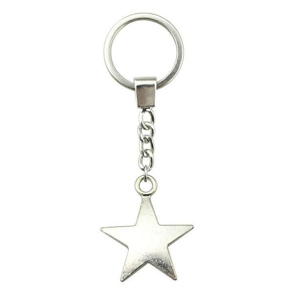 6 Pieces Key Chain Women Key Rings Car Keychain For Keys Star 35x29mm