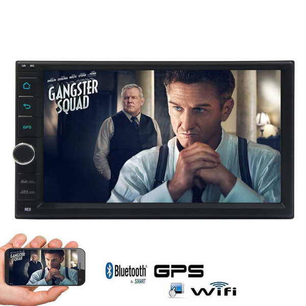 7'' Android 6.0 Quad Core Car Stereo Capacitive Touch Screen Double Din GPS Navigation Car Deck Radio In Dash Headunit Bluetooth/WiFi