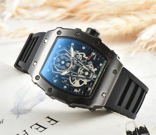 Top Quality Casual Fashion Hollow Watches men Luxury Army Skull sport quartz watch Silica Gel Strap sport Quartz Watches Wholesale