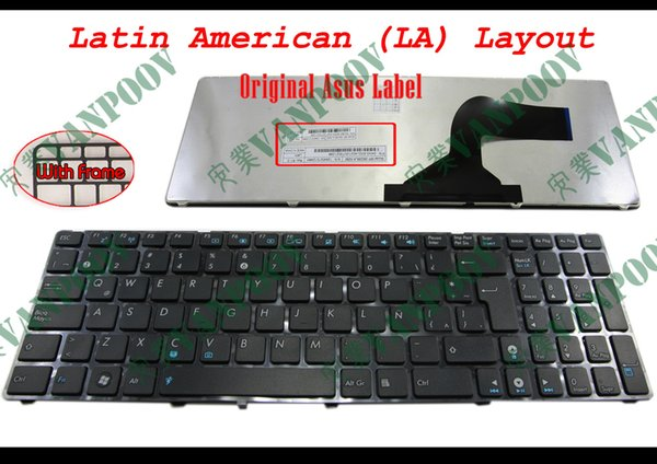 New Notebook Laptop keyboard FOR ASUS G60 K52 G51 G53 N61 U50 X61 G60J G60V G60JX G60VX Black Latin American LA Similar as Spanish/espanol