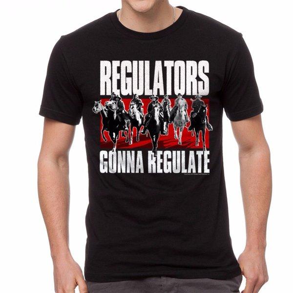 Best Selling Male Natural Cotton Shirt Short Sleeve Top Young Guns Regulators Men's T-Shirt Black Crew Neck T Shirt For Men