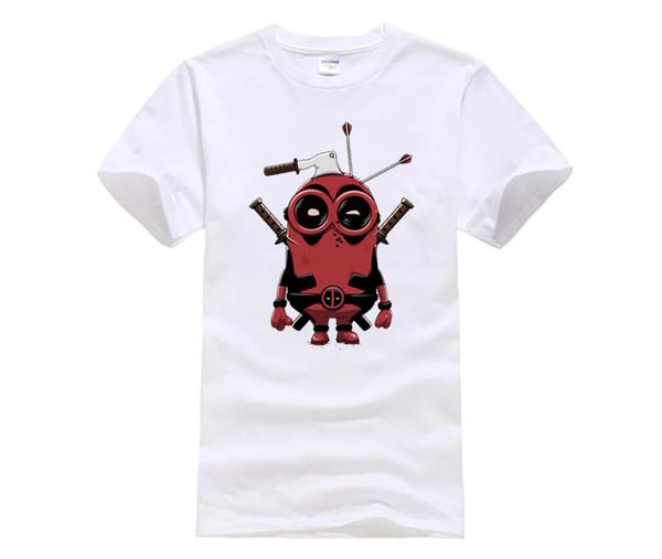 Newest Men's Deadpool T shirt Fashion Punk Deadpool Pug Printed Men T-Shirts Porco Rosso Design Funny tops tee
