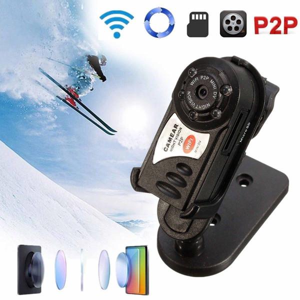 Q7 Cámara IP Inalámbrica WiFi Infrarrojo en Tiempo Real Mini DVR Videocámara de Visión Nocturna Grabadora de Vídeo Tarjeta de TF TF 32GB