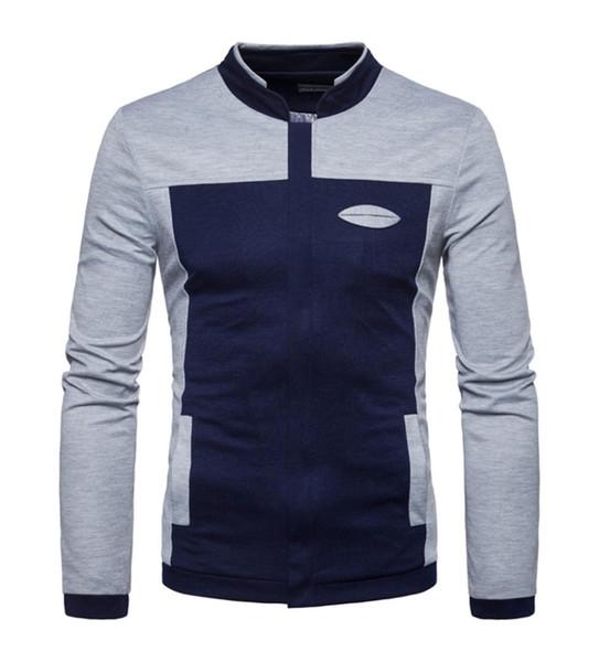 Sweatshirts Männer Hoodie 2018 Herbst Winter Mode Outwear Schlanke Lange Graben Reißverschluss Mantel Marke Sweatshirt Für Männer Moletom