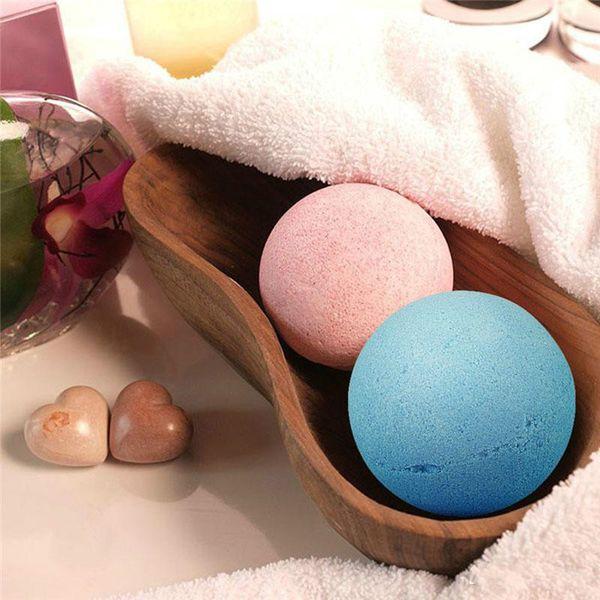 top popular Dropshipping 10g Natural Bubble Bath Bomb Ball Essential Oil Handmade SPA Bath Salts Ball Fizzy Christmas Gift 2021