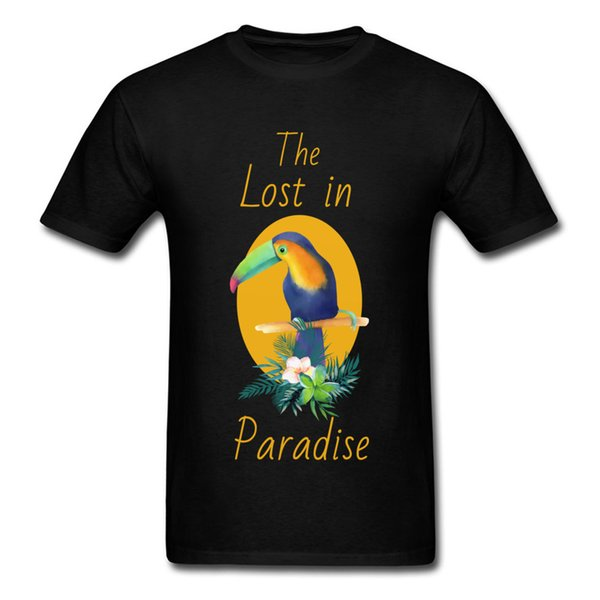 T Shirts Man Casual TShirt The Lost in Paradise Tops T-Shirt for Men Plain Summer/Fall Crew Neck 100% Cotton Clothes Short Sleeve