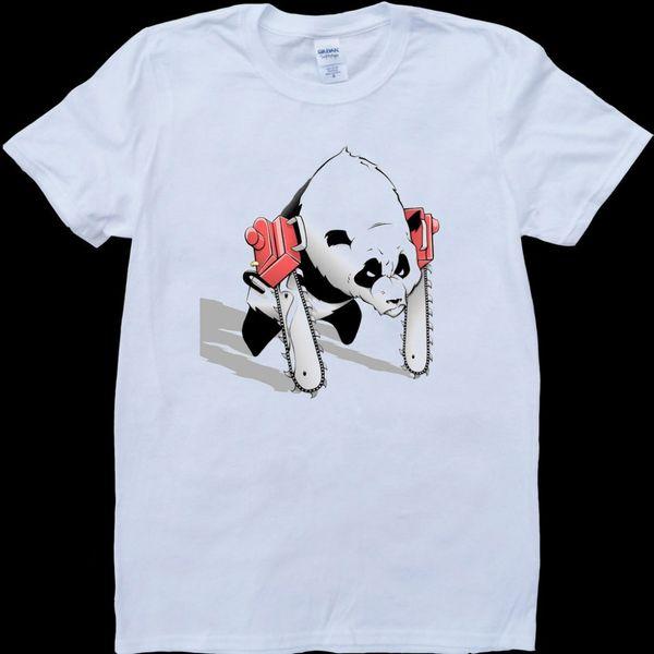 Print T Shirts Short Printing Submersed White T-Shirt Size S M L XL 2XL Post Grunge band Kurt Hole CandleboxChainsaw Panda White, Custom Mad
