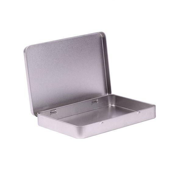 Металлическая коробка олова фото открытка большой прямоугольник классический серебряный держатель ювелирных изделий коробка для хранения 160*112*20 мм Бесплатная доставка wen5480