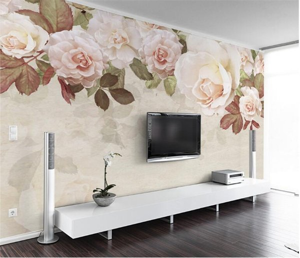 Flower Wallpaper Mural Hd Large Size Wall Mural For The Walls 3d Tv Bedroom Wallpaper Home Wall Decorative Custom Any Size Wallpapers Download 3d
