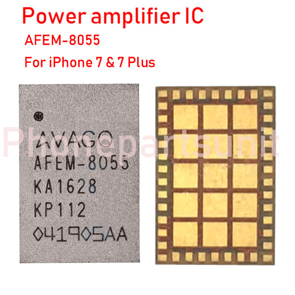 5pcs/lot Original New Power Amplifier IC For iPhone 7 7G 7P 7 Plus AFEM-8055 MBHBPA_RF PA Chip Assembly On Board Repair Part Free Shiping