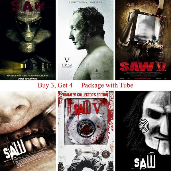 Saw Posters Movie Wall Stickers White Coated Paper Prints Clear Image Home Decoration Livingroom Bedroom