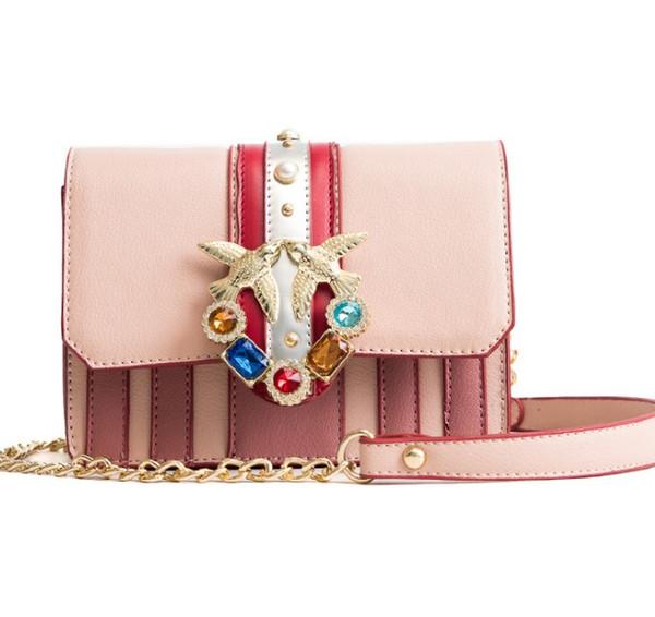 Luxury Italian brand swallow bag fashion hit color diamond gem swallow bag shoulder bag female Messenger bags handbag brand female bags