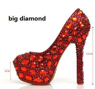 Red 14cm big diamond