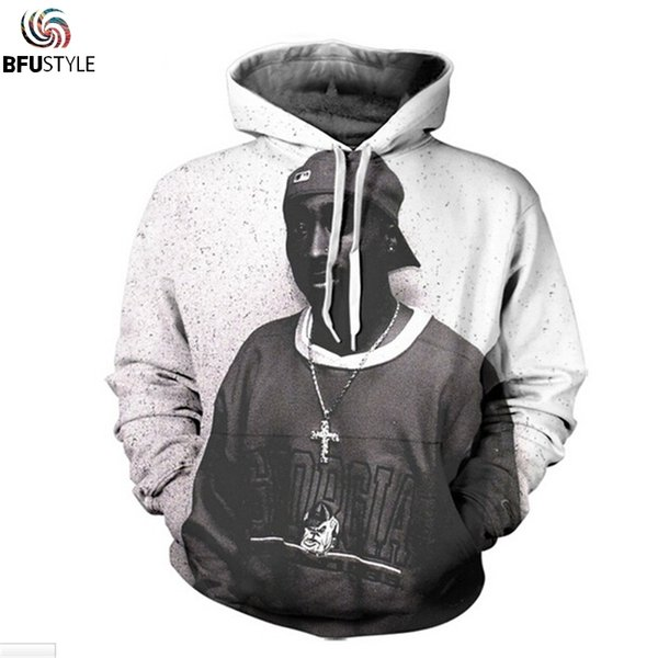 Tupac Hoodie Sweatshirt Männer Frauen Neue Mode Hip Hop Kapuzenoberteile Sudadera Hombre Casual Herbst Winter Sportswear Trainingsanzug