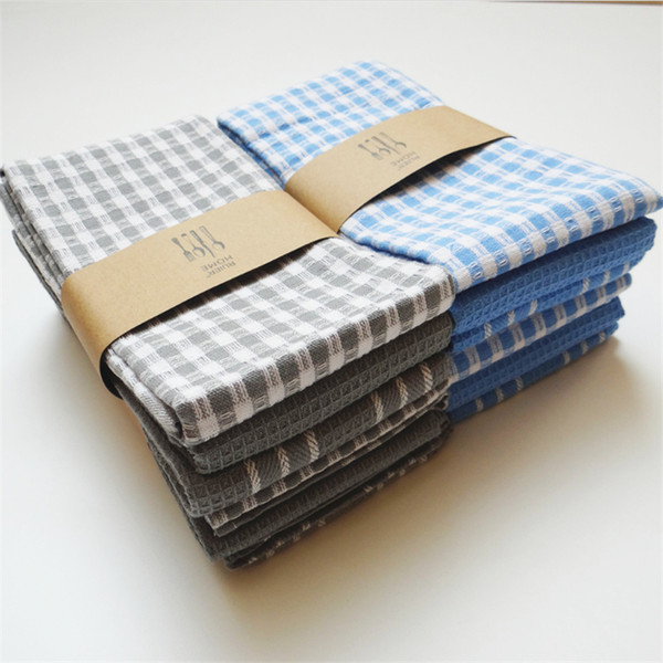 45 * 65 cm Einfache baumwolle leinen tuch servietten serviette platz gehobenen westlichen geschirr falten tuch hochzeit tuch servietten
