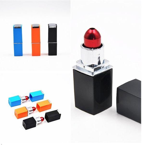 Nouveau Mode Rouge à Lèvres Conçu Tuyau En Métal Support à Fumer Filtre Détecteur De Tuyaux Fumeurs Pour Lady Cadeau Portable I341