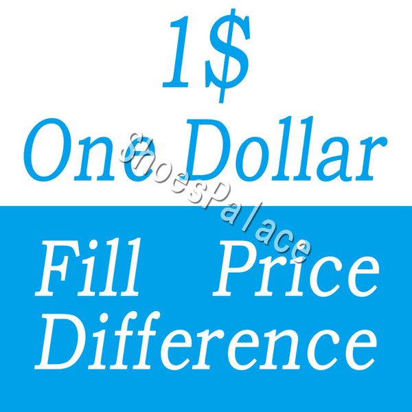 best selling One Dollar Fill Price Difference payment for DHL EMS different extra cost diferent shipping fee etc