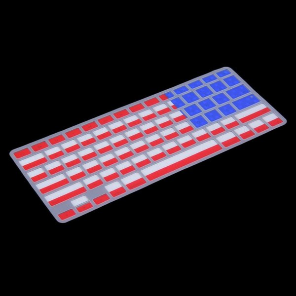 Hot Sale !USA Flag Dust-free Silicone Laptop Keyboard Skin Protective Film for Macbook Retina High Quality