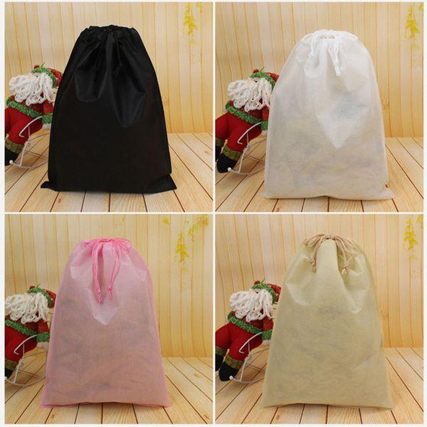 Sac de poussière de stockage non tissé pour l'emballage de chaussures de vêtements pour l'organisation de la corde de traction de sac à main pour le transport de sacs à main sacs de DHL