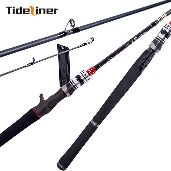 2.1m H power light spinning Baitcasting fishing rod pole carbon fiber casting bass lure rod 2 sections lure weight 15-60g