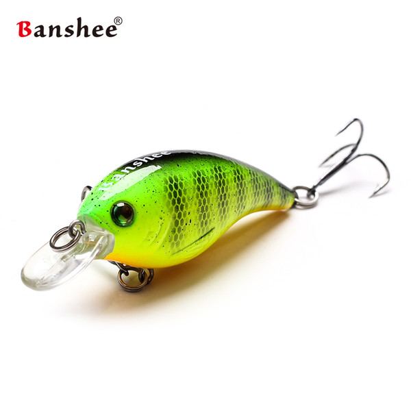 Banshee 60mm 10g Thrill Thunder Floating Fishing Lure VC01 Rattle Sound Wobbler Artificial Hard Bait Shallow Diving Crankbaits Y1890402