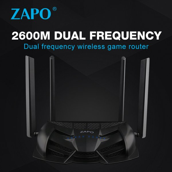 Gaming ZAPO 2.4G/5GHz Top Chip AC 2600Mbps WiFi Router Wireless 16MB Flash High Gain Antennas USB Storage Long Distance