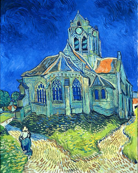 Vincent Van Gogh Oil Painting Reproduction Canvas Wall Art Oise Church Picture Printed on canvas Modern Home Decoration Unframed or Framed