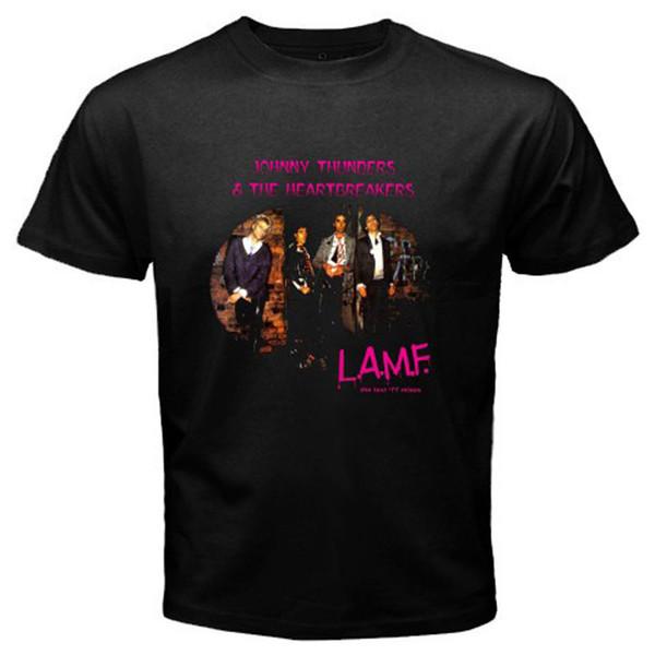 T-shirt nera da uomo di Heartbreakers Rock Legend di Johnny Thunders Taglia T-shirt nera da uomo di S-3XLMan Heartbreakers Top tee