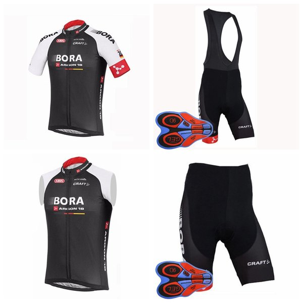 BORA team Cycling Short Sleeves jersey bib shorts Sleeveless Vest sets New  bicycle ropa ciclismo breathable mountain biker men D1903 2b9d61f47