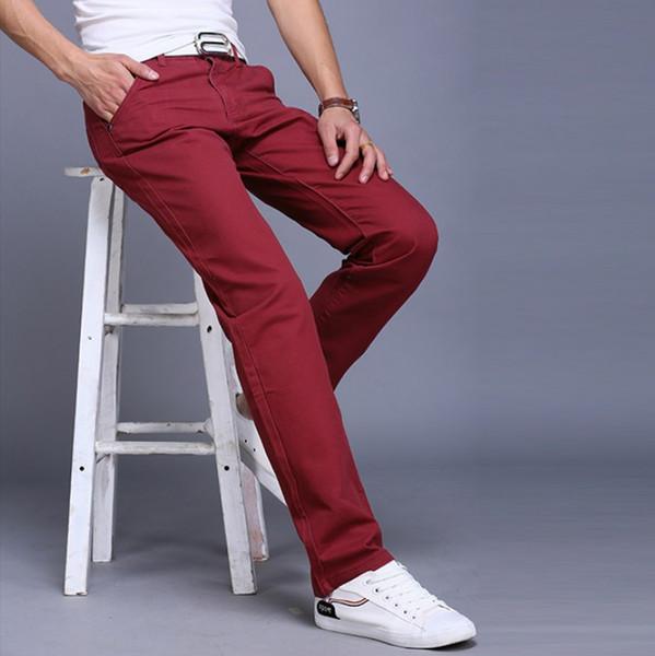 2018 Nuovi prodotti Pantaloni casual da uomo a sezione sottile Uomo Pantaloni dritti Inghilterra Pantaloni da college da uomo Pantaloni casual da uomo