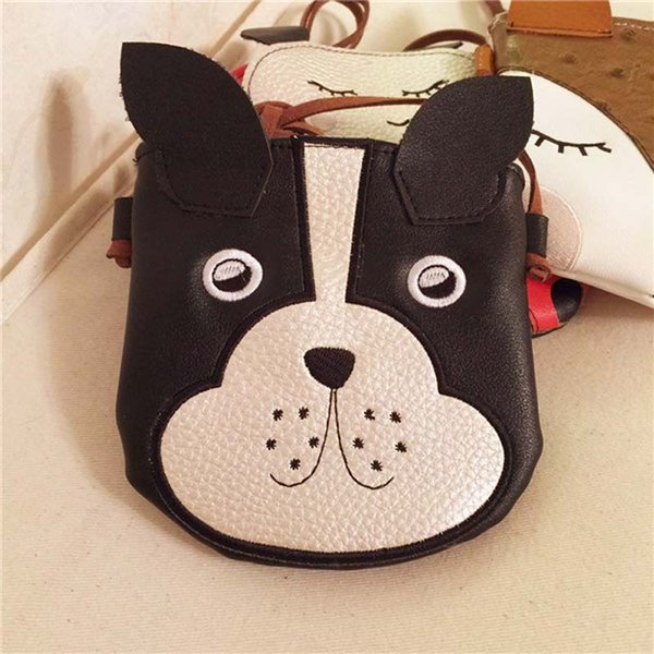 5pcs 2018 Cartoon Girl Fox Dog ladybird Patten Shoulder Bag Kids Pu Coin Purses Cross body Bag