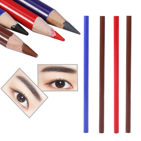 1 Pc Eyebrow Tattoo Pencil Waterproof Permanent Lip Tattoo Pen Liner Long Lasting Cosmetic Makeup Wooden Colored Beauty Tool