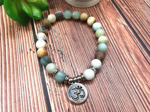 Natural stone Yoga bracelet, lotus Buddha head pendant ornament Bracelet