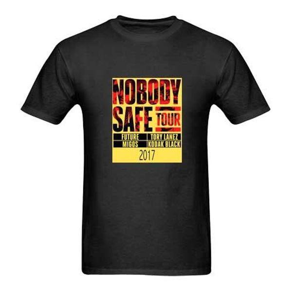 Nobody Safe Tour Future Migos New Men's Black T-Shirt Size S to 3XL custom printed T-shirt hip hop funny teemens tee shirts
