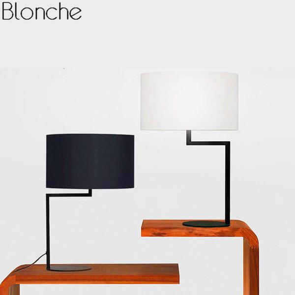Moderno Led Lámpara de Mesa Lámpara de Tela Americana Soporte de Escritorio Luz para el Dormitorio Lámpara de Lectura Estudio Home Art Decor Luminaire