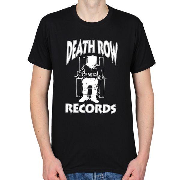 Death Row Registro Prying Gangster Rap Hip Hop Clássico T-shirt dos homens de Manga Curta Top Tee Para Venda Natural de Algodão T camisas