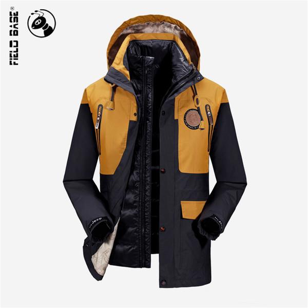Großhandel Herbst Neue 2016 Herren Jacken Und Mäntel Dicken Pelzkragen Wintermantel Männer Trend Mit Kapuze Parka Blouson Homme Hiver Fashion Brand 3