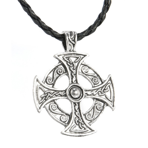 """New Arrival 5 Style Trinity Pewter Pentagram Star Celtic Solar Cross/Knot Trinity Knot Trinity Pendant 20"""" Choker Necklace"""