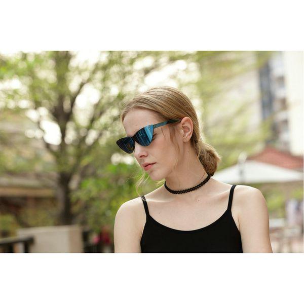 2018 Super Cat Eyewear Lady Designer Cat Eye Blue Mercury Colorful Mirror Sunglasses Women New Spectacle Parasol UV400 NX