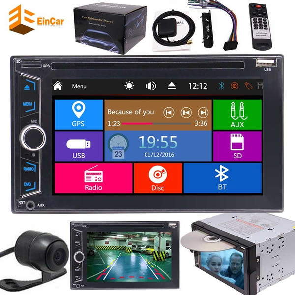 6.2'' Monitor Double DIN Car GPS Navigation FM AM RDS Dvd Player Stereo Bluetooth Mp3 Radio 2DIN Car dvd Backup Camera Remote