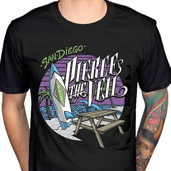Pierce The Veil - Beach T Shirt Size:L,2XL - NEW & OFFICIAL