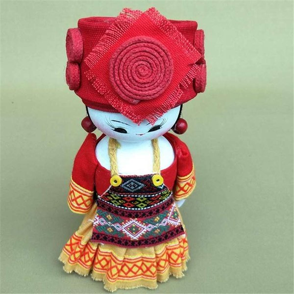The national characteristics of the design Home Furnishing wooden ornaments jewelry color cloth doll creative gift toys for children